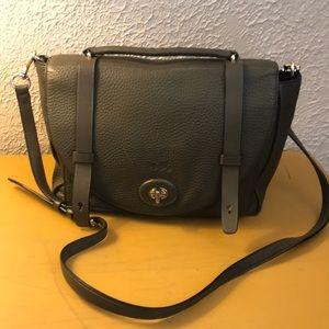 Coach olive leather messenger bag